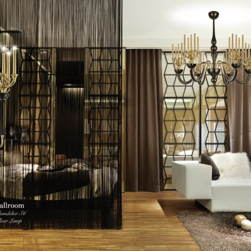 Ballroom Chandelier S6 Floor Lamp